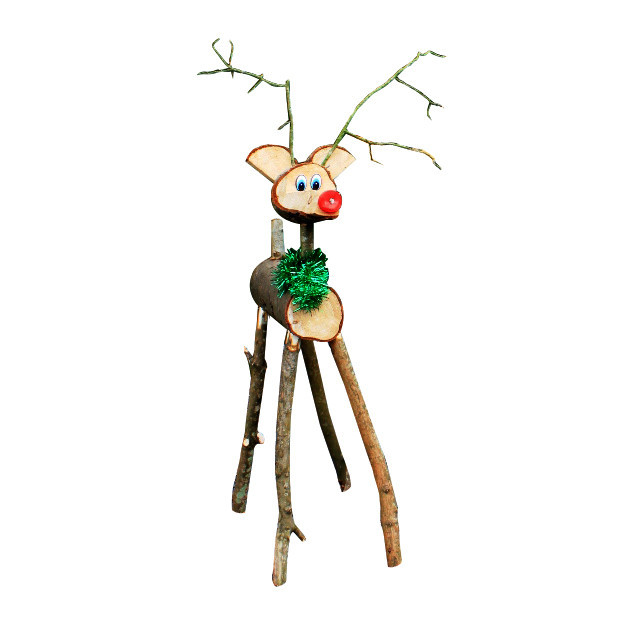 Miniature Rustic Reindeer Pick - Decorative Accents - Primitive Decor
